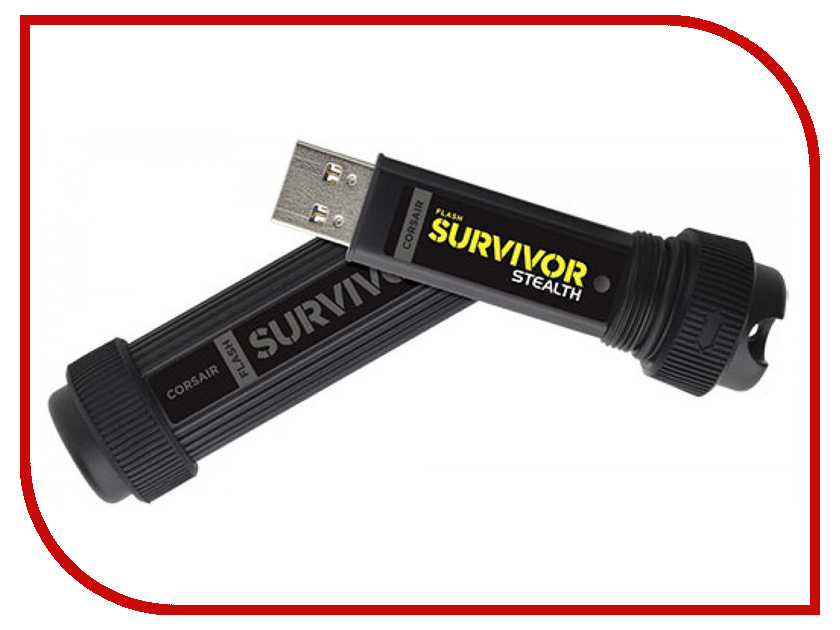 USB Flash Drive 32Gb - Corsair Flash Survivor Stealth USB 3.0 CMFSS3B-32GB trailhead trailhead homeboy black
