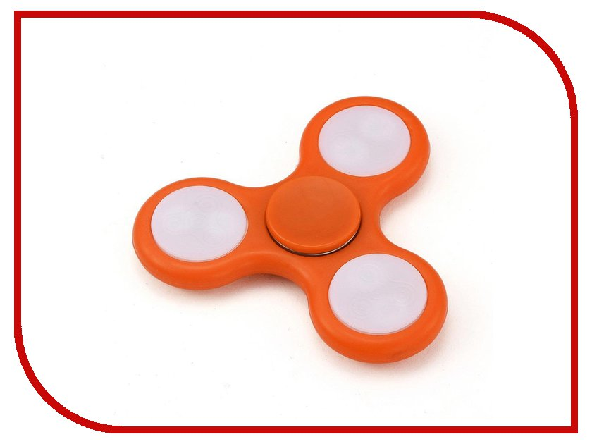 Спиннер Aojiate Toys Finger Spinner Light effects RV530 Orange