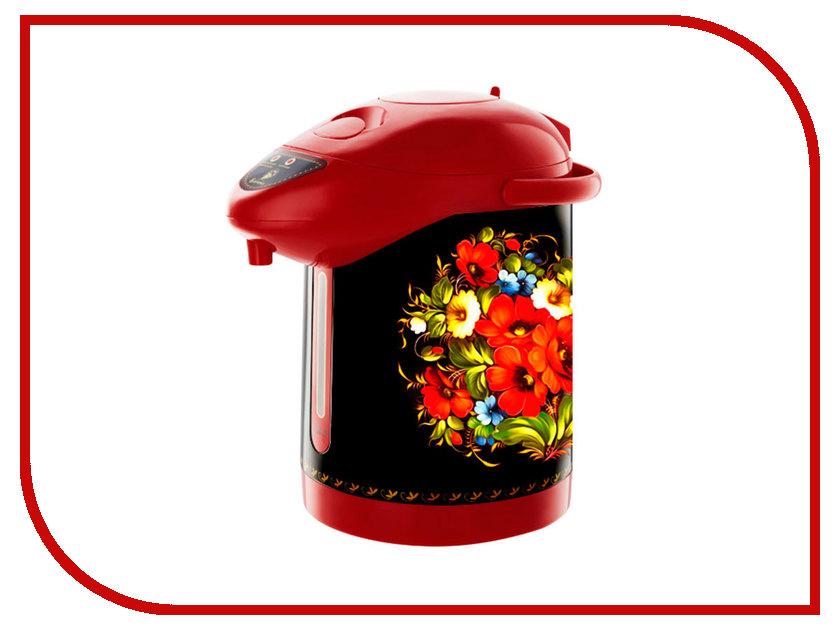 Термопот Василиса ВА-5005 Жостовская роспись Black Red