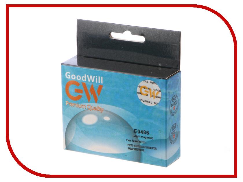 Картридж GoodWill Light Magenta для Stylus Photo R340/R320/R300/R200/R220/RX500/RX620/RX640 GW-T0486 картридж epson t009402 для epson st photo 900 1270 1290 color 2 pack