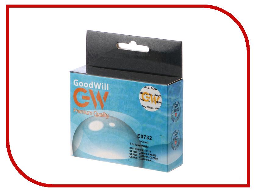 Картридж GoodWill Cyan для Stylus C79/C110/T30/T40/Tx200/300/209/400/409/Cx3900/4900 GW-T0732A