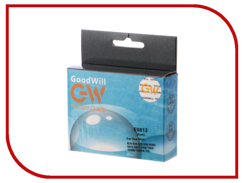 Картридж GoodWill Cyan для R270/R290/R295/R390/RX590/RX610/RX615/RX690 GW-T0812A