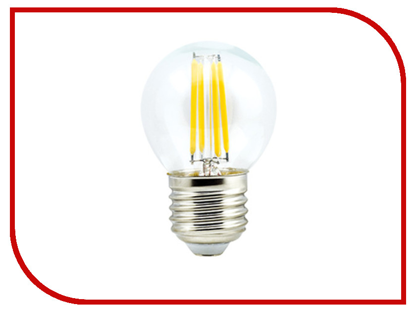 Лампочка Ecola Globe LED Premium E27 6W G45 220V 2700K N7PW60ELC лампочка ecola globe led e14 7w g45 220v 4000k k4lv70elc