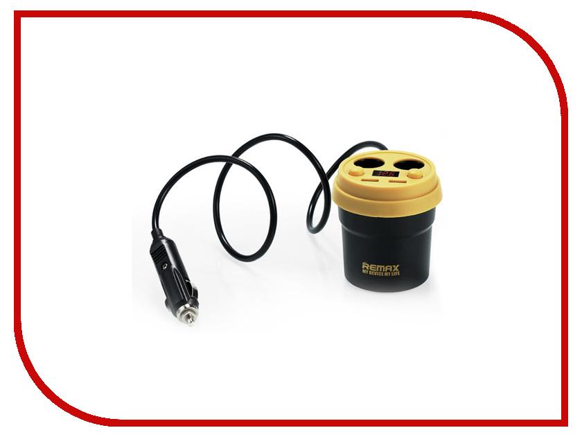 Зарядное устройство Remax CR-2XP Demitasse 2xUSB LCD 5V/3.1A Black-Yellow 71764 зарядное устройство remax fast 7 2xusb rcc204 blue