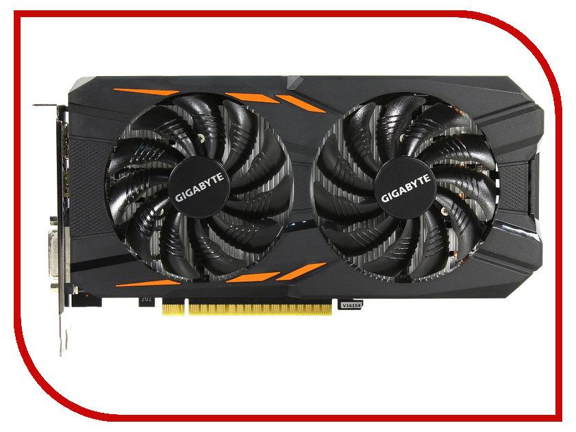 Видеокарта GigaByte GeForce GTX 1050 1379Mhz PCI-E 3.0 2048Mb 7008Mhz 128 bit DVI 3xHDMI HDCP Windforce 2G GV-N1050WF2-2GD gv n1070g1 gaming 8gd gigabyte