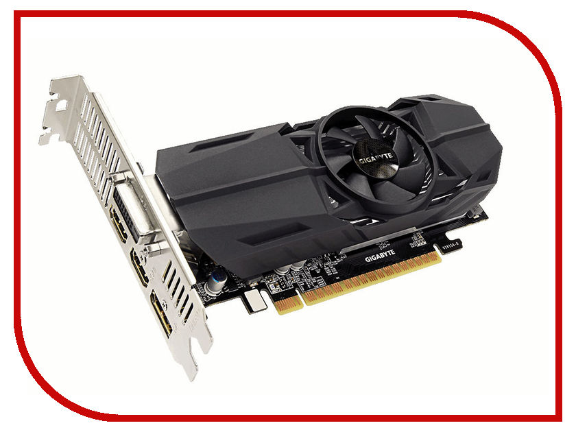 Видеокарта GigaByte GeForce GTX 1050 Ti 1328Mhz PCI-E 3.0 4096Mb 7008Mhz 128 bit DVI 2xHDMI HDCP OC Low Profile GV-N105TOC-4GL pci e to