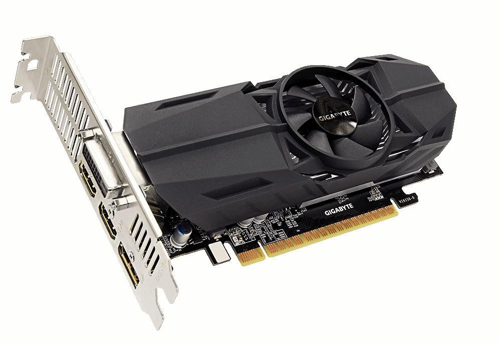 Видеокарта GigaByte GeForce GTX 1050 Ti 1328Mhz PCI-E 3.0 4096Mb 7008Mhz 128 bit DVI 2xHDMI HDCP OC Low Profile GV-N105TOC-4GL фото