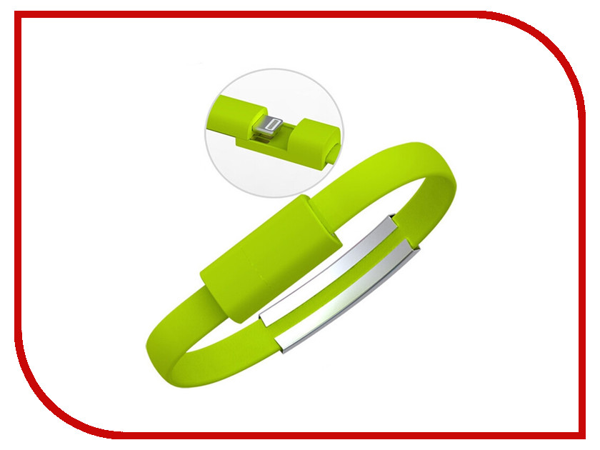 Аксессуар Activ USB / Lightning Cabelet Mono Green 46902
