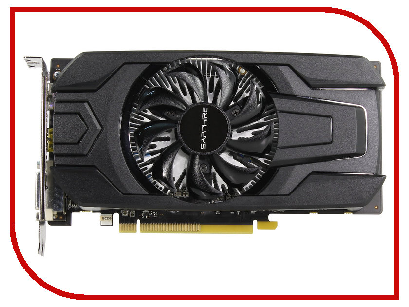 Видеокарта Sapphire Pulse Radeon RX 560 1216Mhz PCI-E 3.0 2048Mb 7000Mhz 128 bit DVI HDMI HDCP 11267-13-20G