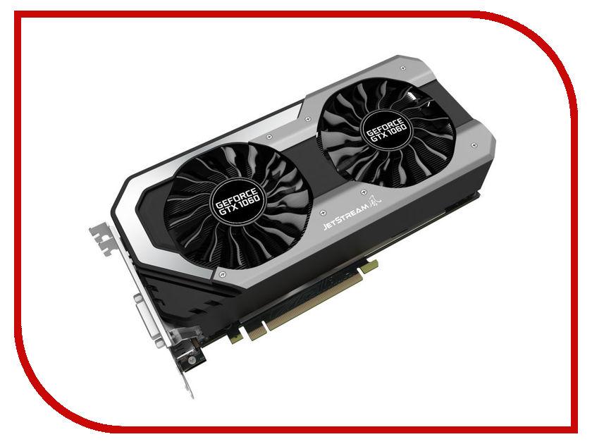 Видеокарта Palit GeForce GTX 1060 Jetstream 1506Mhz PCI-E 3.0 3072Mb 8000Mhz 192 bit DVI HDMI HDCP NE51060015F9-1060J видеокарта asus geforce gtx 1060 1620mhz pci e 3 0 6144mb 8208mhz 192 bit dvi hdmi hdcp rog strix gtx1060 o6g gaming