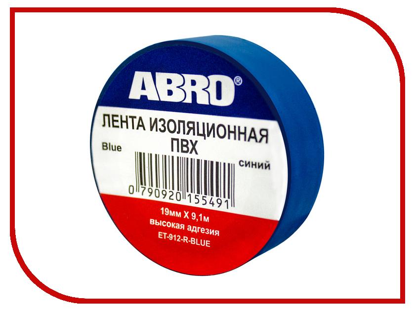 Изолента ABRO 19mm x 0.12mm x 9.1m Blue ET-912-R-BL сумка abro 027367 18 91