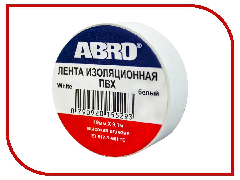 Изолента ABRO 19mm x 0.12mm x 9.1m White ET-912-R-W