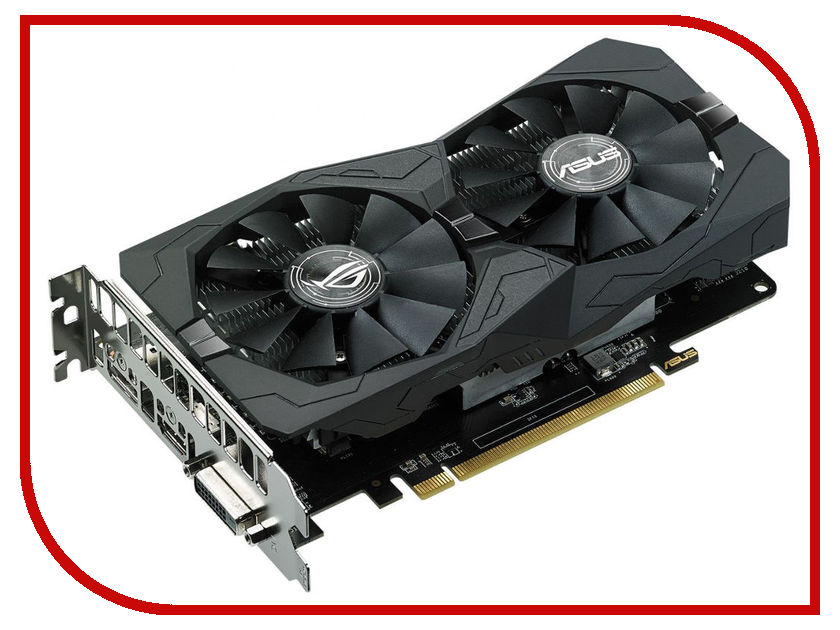 Видеокарта ASUS Radeon RX 560 1326Mhz PCI-E 3.0 4096Mb 7000Mhz 128 bit DVI HDMI HDCP Strix Gaming OC ROG-STRIX-RX560-O4G-GAMING abs chrome gloss black rear tail decoration frame cover trim for land rover discovery sport 2015 2017 car styling