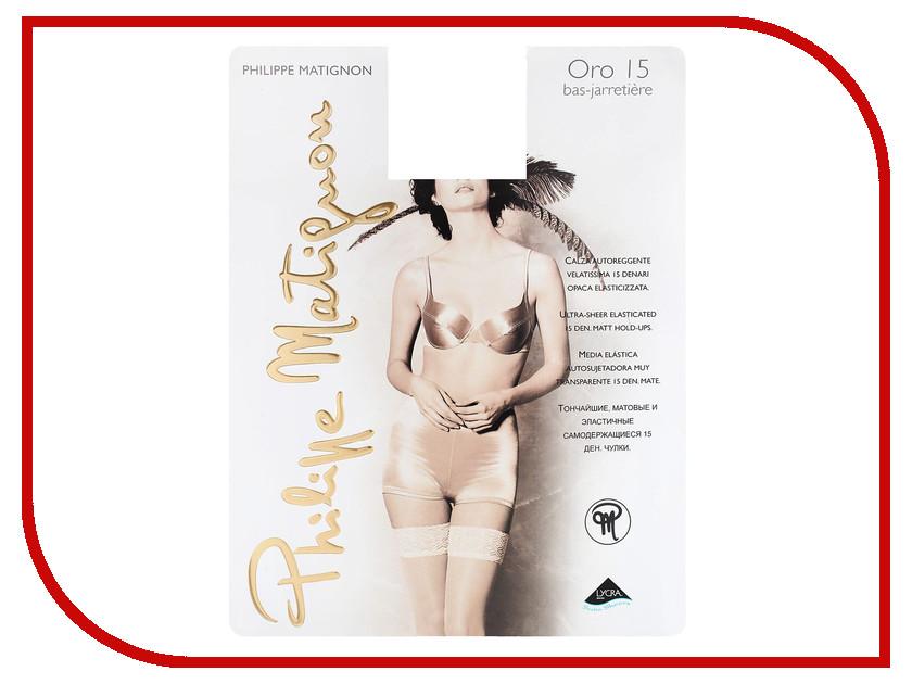 Чулки Philippe Matignon Oro размер 3 плотность 15 Den Bas-Jarretiere Nero гольфы philippe matignon premiere 20 mi bas nero черные размер m l