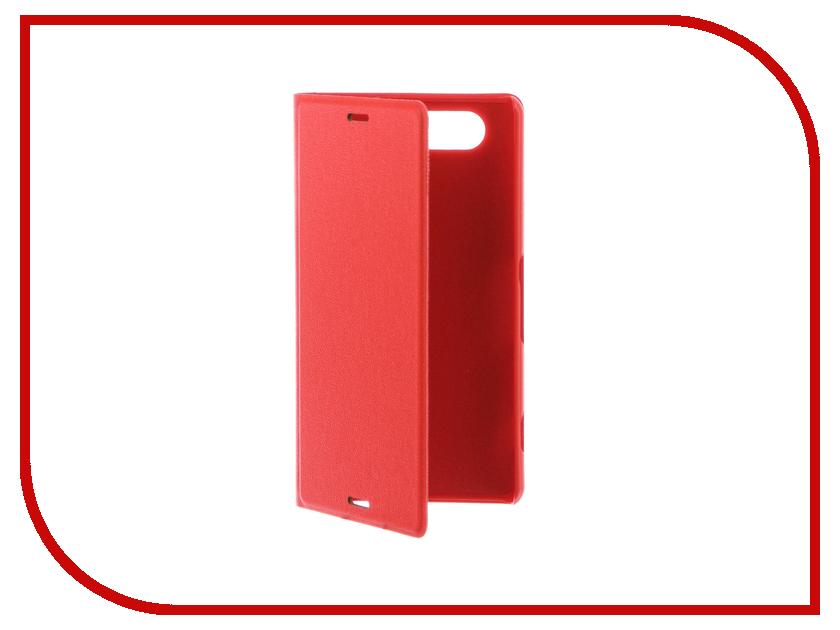 Аксессуар Чехол-накладка Sony Xperia Z3 Compact BROSCO пластиковый Red Z3C-BACK-03-RED
