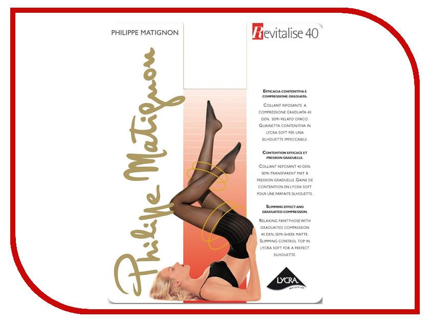 Колготки Philippe Matignon Revitalise размер 4 плотность 40 Den Nero гольфы philippe matignon premiere 20 mi bas nero черные размер m l