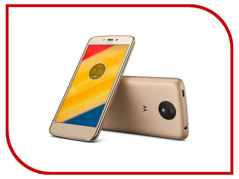 Сотовый телефон Motorola Moto C Plus XT1723 Fine Gold смартфон motorola moto c plus xt1723 5 hd ips 1280х720 mediatek mt6737 1 3ghz 1gb 16gb 4g lte wifi bt sd 8mp android 7 0 whole gold