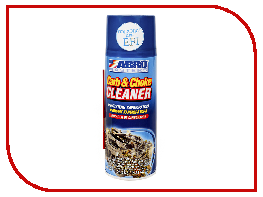 Очиститель карбюратора и дроссельных заслонок ABRO CC-100 283гр цемент глушителя abro