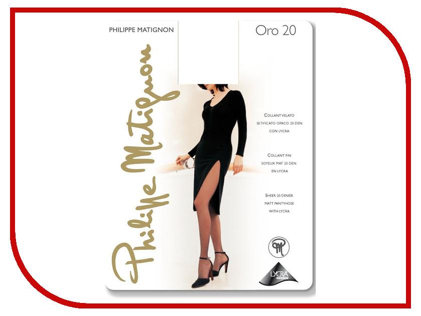 Колготки Philippe Matignon Oro размер 4 плотность 20 Den Nero гольфы philippe matignon premiere 20 mi bas nero черные размер m l