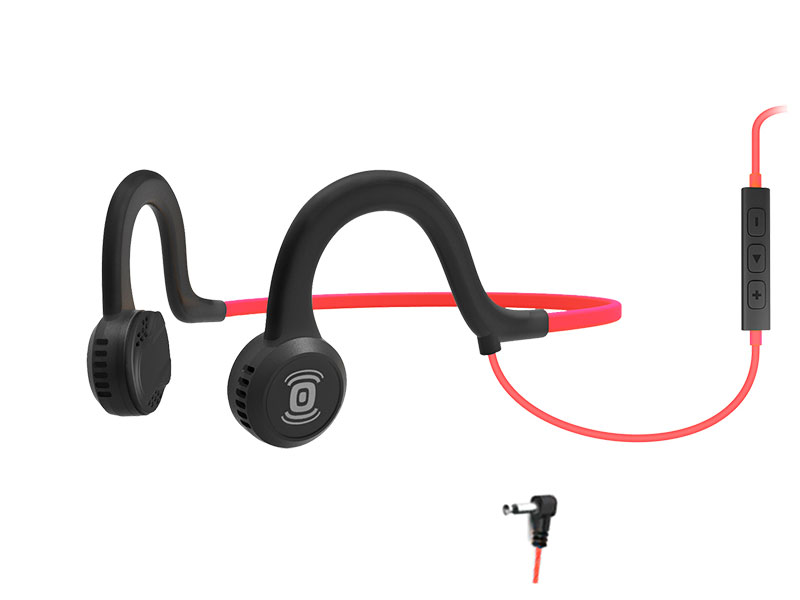AfterShokz Sportz Titanium with mic Red AS451LR