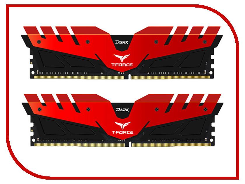 Модуль памяти Team Group T-Force Dark Red DDR4 DIMM 3000MHz PC4-24000 CL16 - 16Gb KIT (2x8Gb) TDRED416G3000HC16CDC01