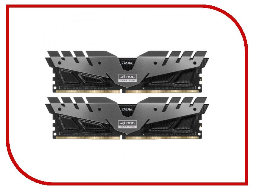 Модуль памяти Team Group T-Force Dark Rog Gray DDR4 DIMM 3000MHz PC4-24000 CL16 - 16Gb KIT (2x8Gb) TDRGD416G3000HC16CDC01 team adidas