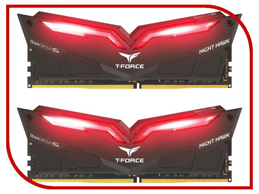Модуль памяти Team Group T-Force Night Hawk Red DDR4 DIMM 3200MHz PC4-25600 CL16 - 32Gb KIT (2x16Gb) THRD432G3200HC16CDC01 team work and group dynamics