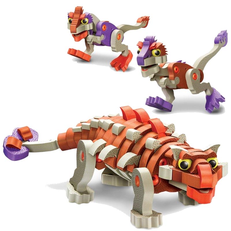 Конструктор Магникон Soft Blocks Анкилозавр и малыши 200 деталей 4660007763627