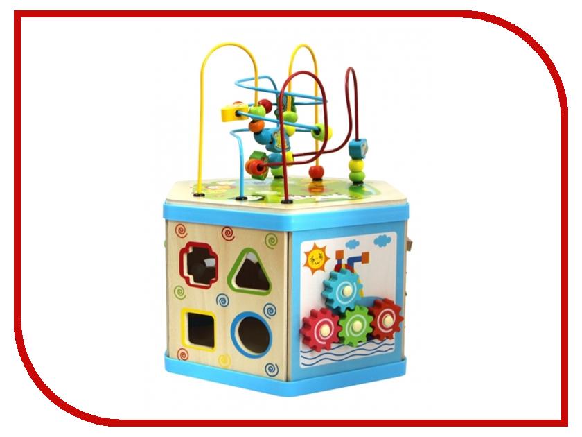 Игрушка Магникон Деревянный куб-лабиринт 7 в 1 4660007763283 деревянный лабиринт