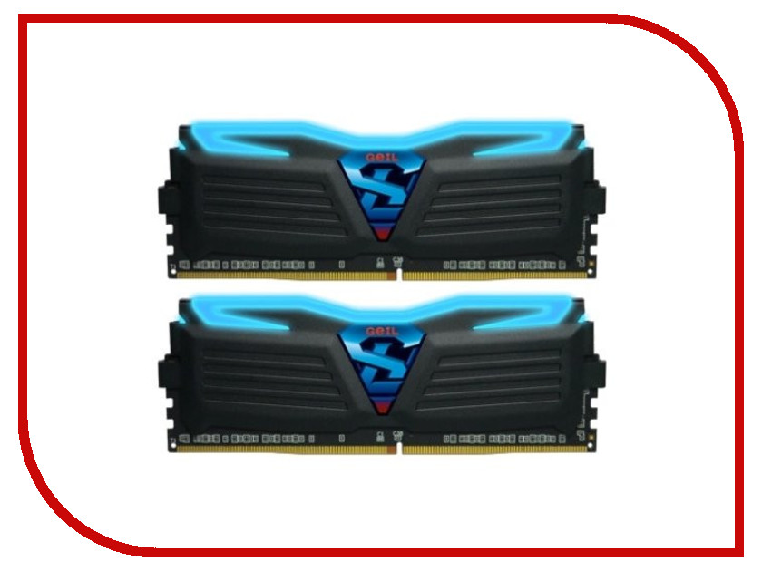 Модуль памяти GeIL Super Luce Black DDR4 DIMM 3000MHz PC4-24000 CL15 - 32Gb KIT (2x16Gb) GLB432GB3000C15ADC pc4 24000 ddr4 dimm apacer