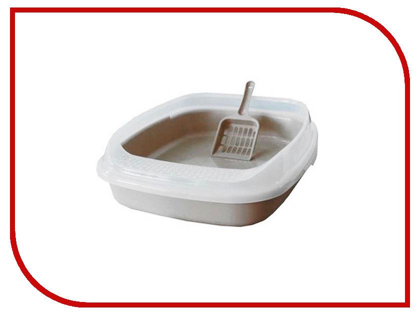 Туалет Макар с бортом без решетки 46x36x11cm МАК01 White какой лучше купить кошке туалет с решеткой или без решетки