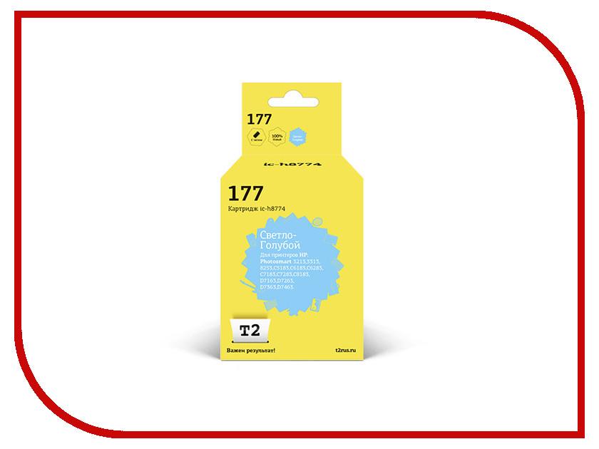 Картридж T2 Light Blue для Photosmart 3213/3313/8253/C5183/C6183/C6283/C7183/C7283/C8183/D7163/D7263/D7363/D7463 IC-H8774 hp 177 c8774he light cyan
