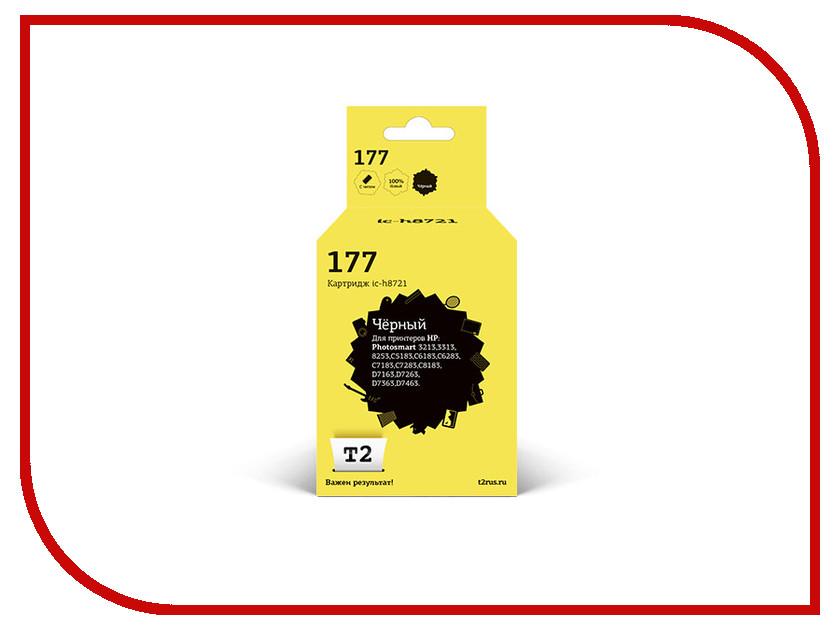 Картридж T2 Black для Photosmart 3213/3313/8253/C5183/C6183/C6283/C7183/C7283/C8183/D7163/D7263/D7363/D7463 IC-H8721 hp c8721he 177 black для photosmart 8253 3213 3313