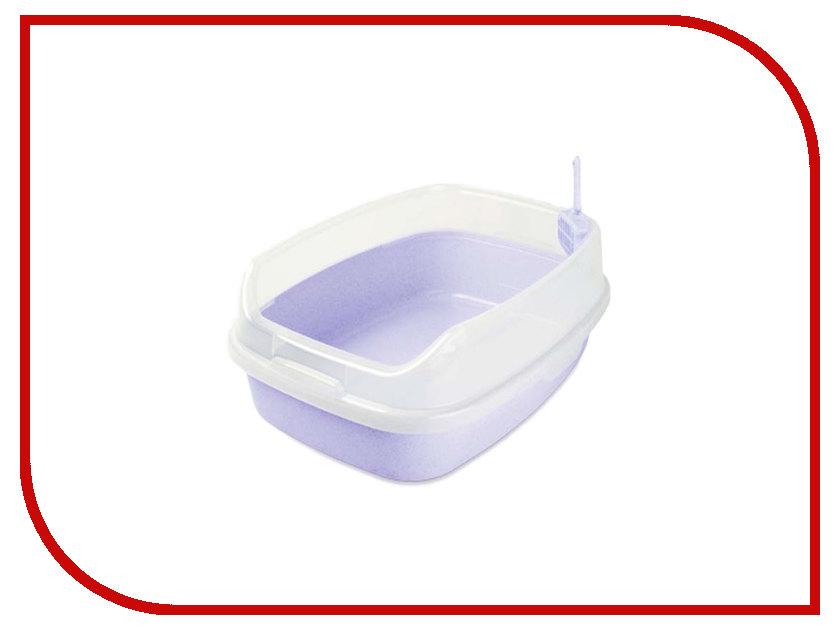 МАК34  Туалет Макар прямоугольный большой с бортом 62x46x25cm МАК34 Lilac