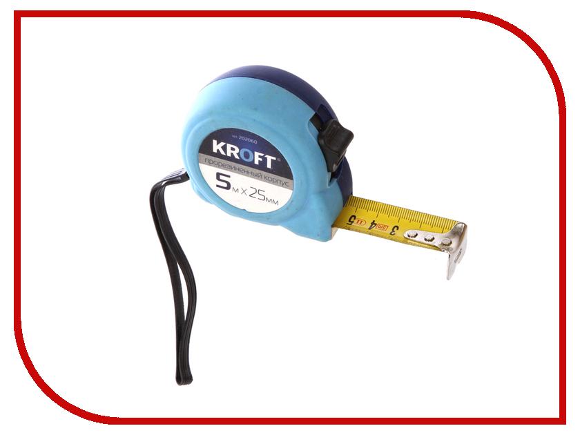 Рулетка Kroft 5m x 25mm 202060 рулетка kroft 202094