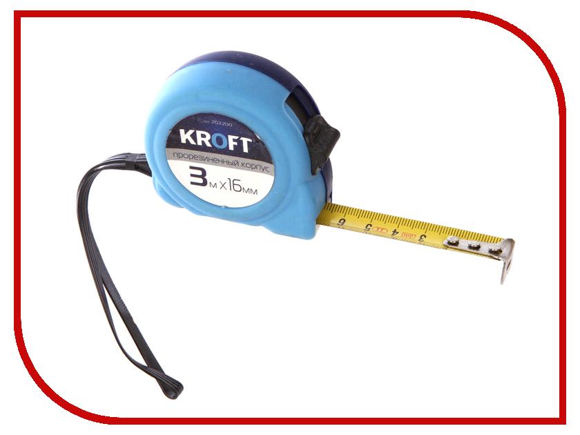 Рулетка Kroft 3m x 16mm 202200 рулетка kroft 202094