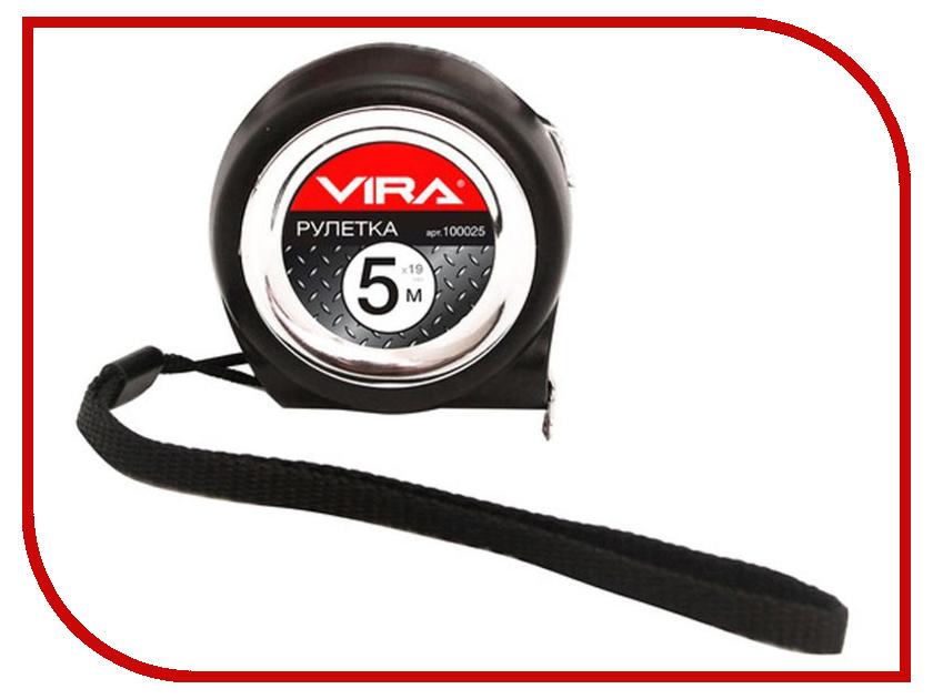 Рулетка Vira 5m x 19mm 100025  рулетка vira 8мx25мм с нейлоновым покрытием