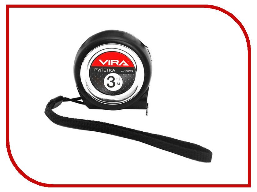 Рулетка Vira 3m x 19mm 100024  рулетка vira 8мx25мм с нейлоновым покрытием