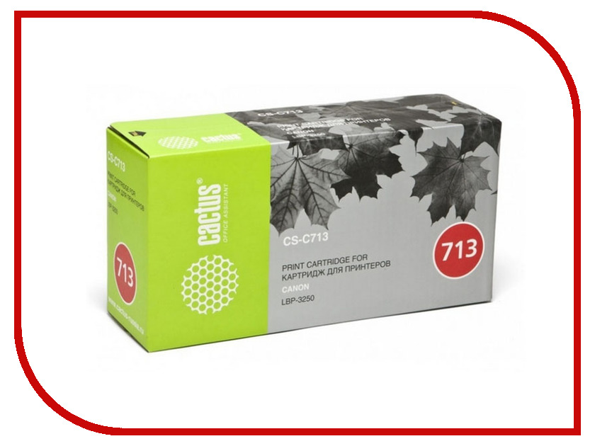 Картридж Cactus Black для i-Sensys 3250 2000стр. CS-C713S принтер canon i sensys colour lbp653cdw лазерный цвет белый [1476c006]