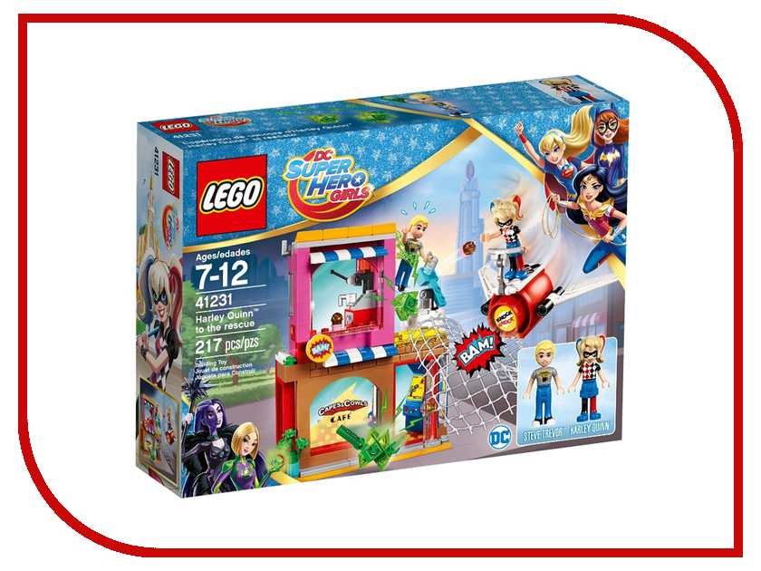 Конструктор Lego DC Super Hero Girls Харли Квинн спешит на помощь 41231 ночники lego игрушка минифигура фонарь lego dc super heroes супер герои dc batman бэтмен на подставке