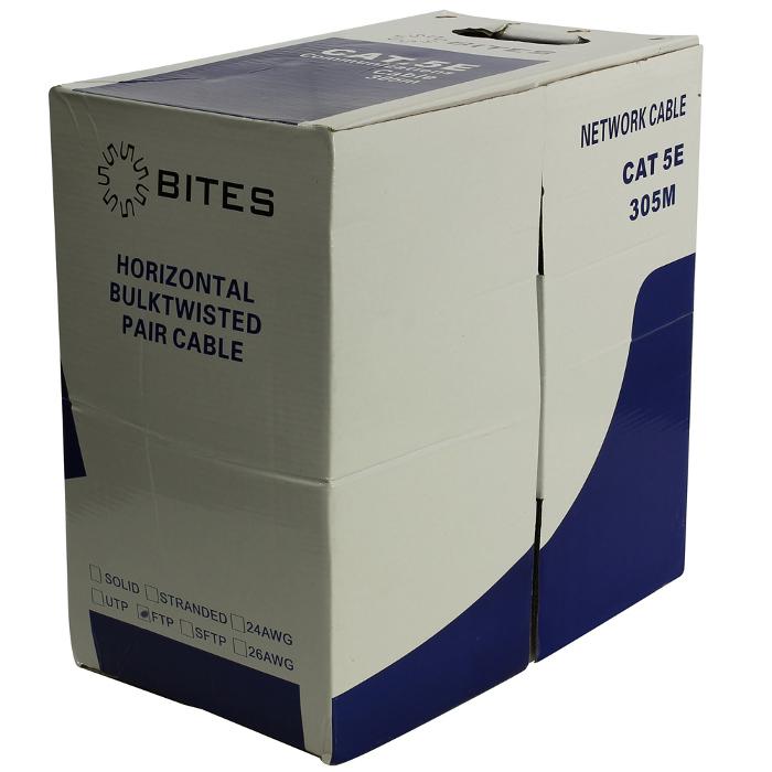 Сетевой кабель 5bites FTP / STRANDED 5E 24AWG CCA PVC 305M FT5725-305A