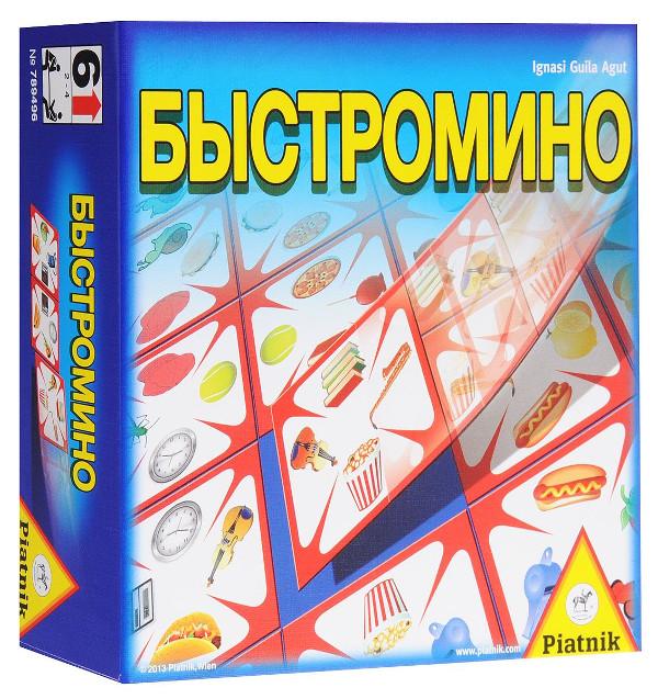 Настольная игра Piatnik Быстромино 789496 игра настольная piatnik веселые монстрики