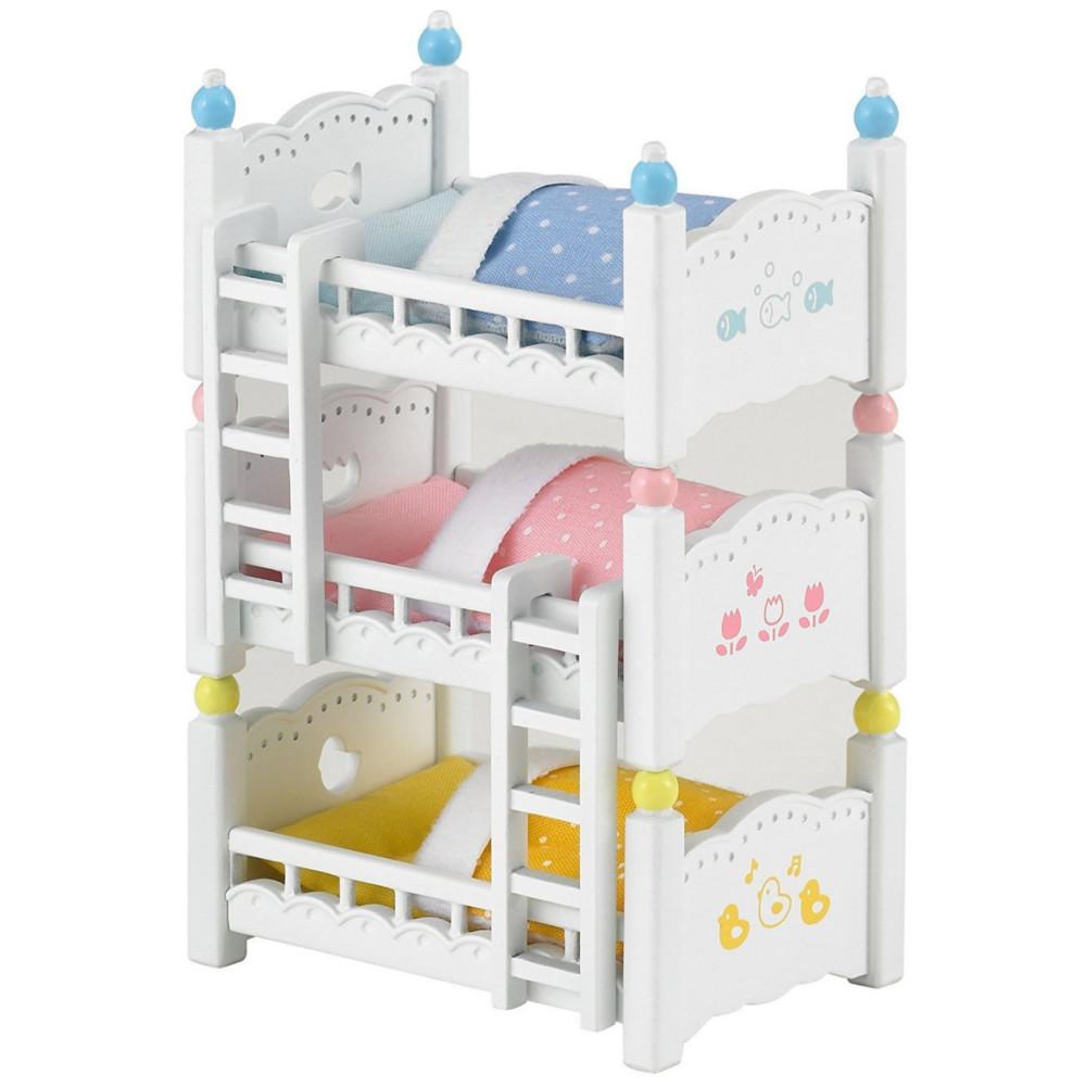 Игровой набор Sylvanian Families Трехъярусная кровать 4448 игровые наборы sylvanian families игровой набор малыш той пудель