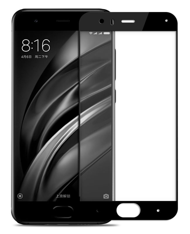 Защитное стекло Zibelino для Xiaomi Mi6 Tempered Glass Full Screen 0.33mm 2.5D Black ZTG-FS-XMI-MI6-BLK аксессуар защитное стекло для xiaomi mi5x mi a1 zibelino tg full screen 0 33mm 2 5d gold ztg fs xmi mi5x gld
