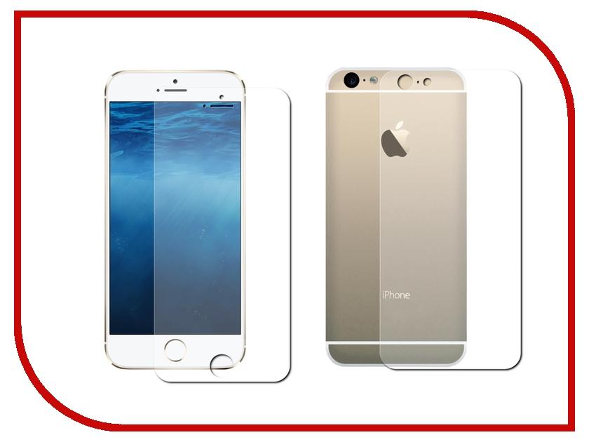 Аксессуар Защитная пленка Krutoff Front & Back для APPLE iPhone 6/6S 12630 ubear защитная пленка для iphone 6 6s матовая