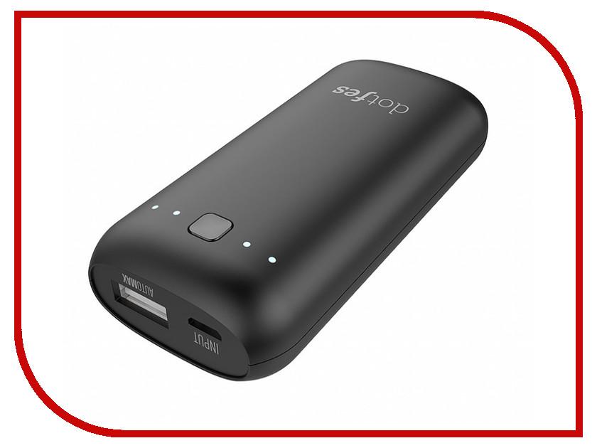 Аккумулятор Dotfes D04-5 AutoMax 5000mAh USB 2.1A Black 48460