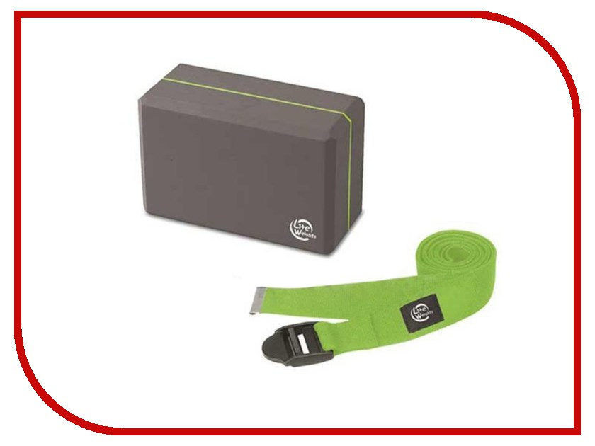Набор для йоги Lite Weights Grey-Light Green 5490LW гантель неопреновая lite weights цвет серый 3 кг
