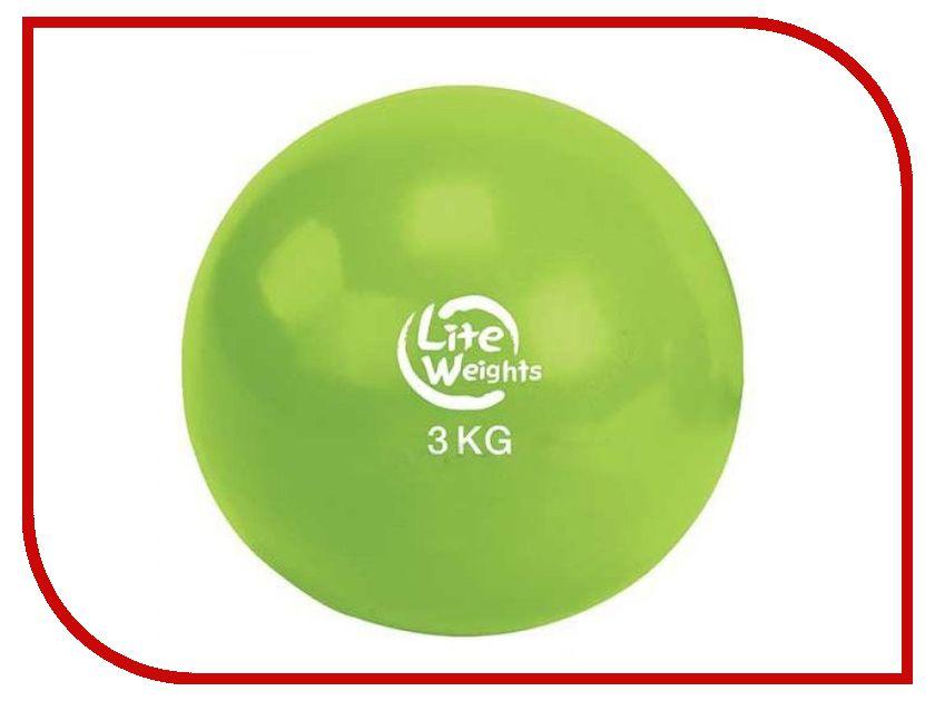 Медбол Lite Weights 3кг Light Green 1703LW ferrino nightec 600 lite pro blue green 86309abd