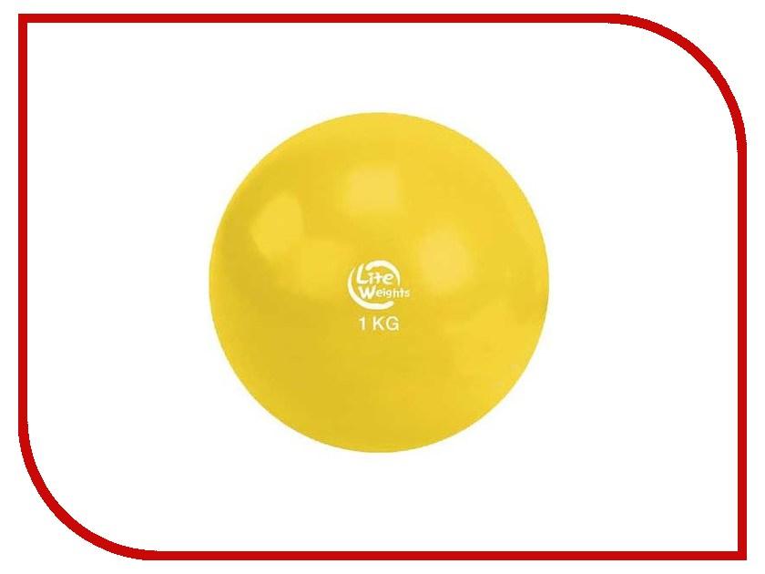 Медбол Lite Weights 1кг Yellow 1701LW медбол grome fitness bl019 5k 5кг