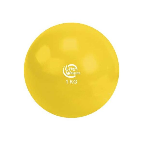 Медбол Lite Weights 1кг Yellow 1701LW